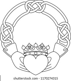 Claddagh with Space for Wedding Names