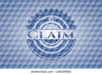 Claim blue hexagon badge.