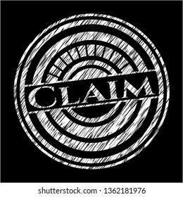 Claim chalk emblem