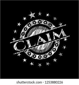 Claim chalkboard emblem
