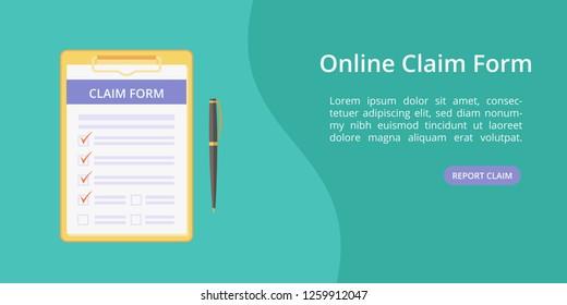 Imágenes, fotos de stock y vectores sobre Online Claim Form