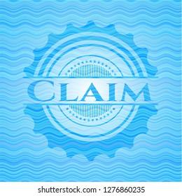 Claim water wave representation emblem.