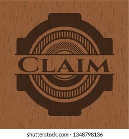 Claim wood icon or emblem