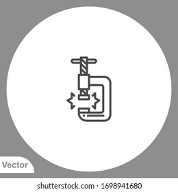 Clamp icon sign vector,Symbol, logo illustration for web and mobile