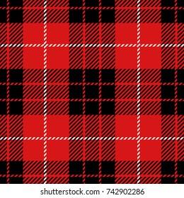 Clan Munro Scottish Woven Tartan Plaid Seamless Pattern