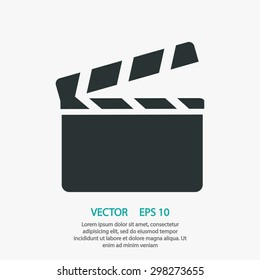 Clapper board  icon. One of set web icons