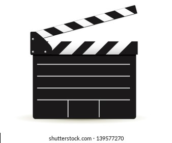 clapper board on white background. Vector