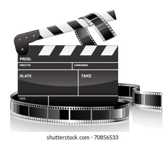 clapper and film