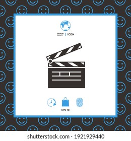 Clapperboard icon. Element for your design