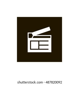 clapperboard icon vector clip art useful stock vector royalty free