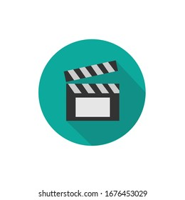 Clapperboard icon. Clapperboard Vector Illustration.
