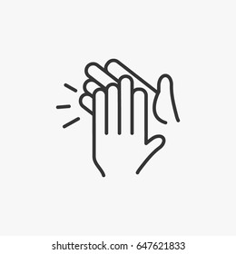 clapping hand icon, illustration isolated vector sign symbol