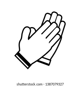 Clapping hands icon, applause hands use for Congratulation or Agreement Deal Business Concept