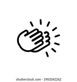 Clapping Hands icon. Thank you sign mockup, sticker template. Vector on isolated white background. EPS 10
