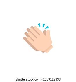 Clapping hands icon. Vector emoticon