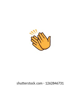 Clapping hands vector flat icon