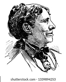 Clara Barton 1821 to 1912 she was a teacher and patent clerk and hospital nurse in the American civil war who founded the American red cross vintage line drawing or engraving illustration