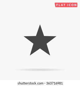Clasic star Icon Vector. Flat black pictogram. Illustration symbol.