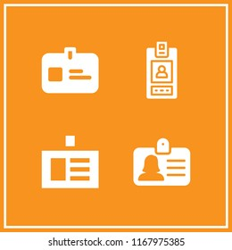 clasp icon. 4 clasp vector set. id card icons for web and design about clasp theme