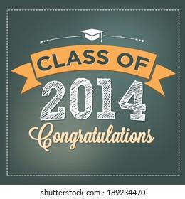 Class of 2014 - Congratulations - Graduation Vector