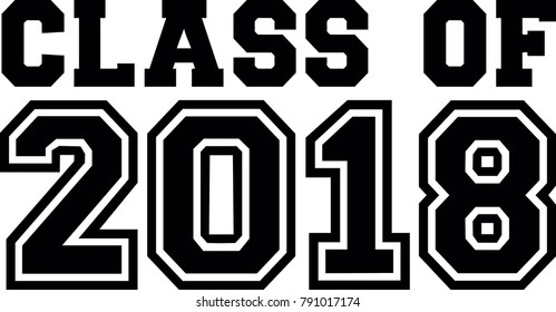 Class of 2018 in black and white