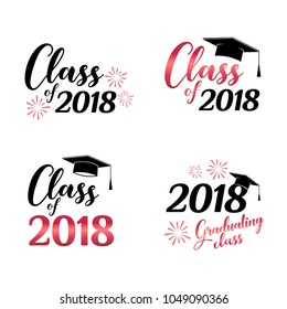Class of 2018 card vector illustration design