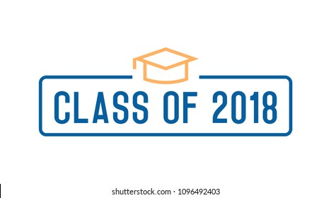 Class of 2018 Congratulations graduates design. Vector illustration for party invites, banners, backgrounds, covers