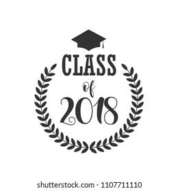 Class of 2018 Vector Template Design Illustration