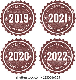 Class of 2019, 2020, 2021, 2022 Graduation Stamps