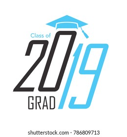 Class of 2019 Congratulations Grad Typography