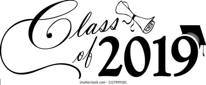 Image result for class of 2019 clipart