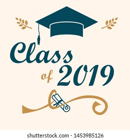 class of 2019 lettering design template
