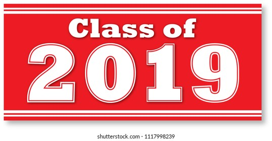 Class of 2019 Red Banner