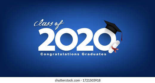 Class of 2020 Vector text for graduation design, congratulation event, T-shirt, party, high school or college graduate. lettering for greeting, invitation card
