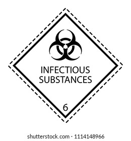 Class 6, Infectious substance vector sign.