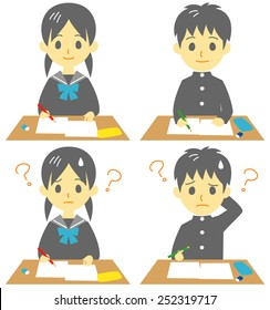 Fail exam images stock photos vectors shutterstock studentin class exam troubled face thecheapjerseys Images