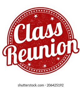 Class reunion grunge rubber stamp on white, vector illustration