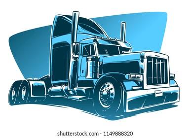 Classic American Truck Illustration