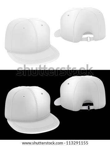 classic baseball hat template front back stock vector royalty free