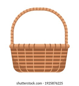classic basket straw isolated icon vector illustration design