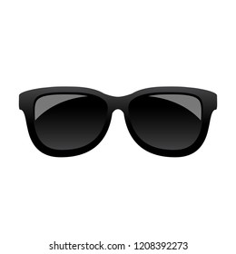 Classic black sunglasses vector icon isolated on white background