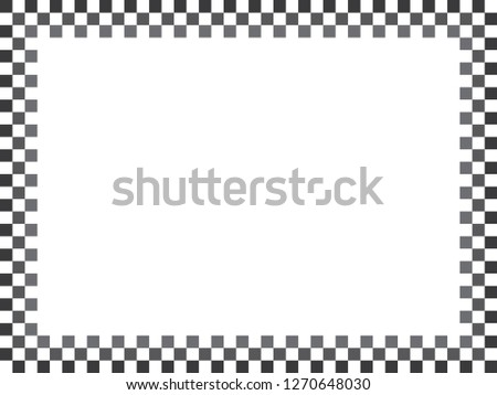 Classic Black White Checkered Pattern Frame Stock Vector Royalty