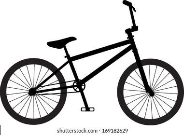 Classic BMX bike / bicycle silhouette