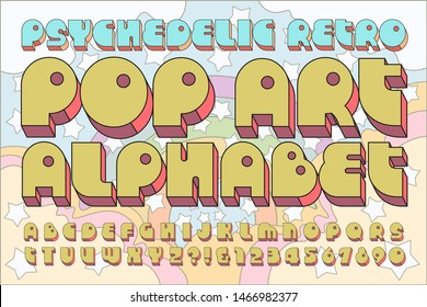 A classic bold pop culture retro font that conjures the feel of the 1960s and 1970s. The letters of the alphabet are bold and offbeat.
