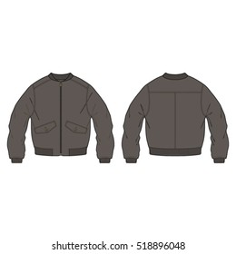 Classic Bomber Jacket Template