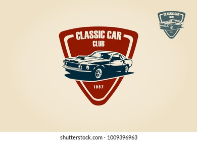 Classic Car Club Logo Template Vector Logo Illustration