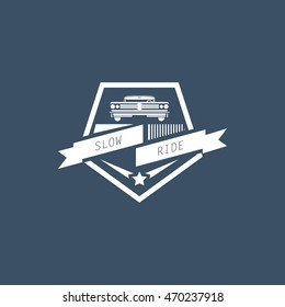 Classic car logo, emblems, badges and icons. Vector Illustration Design Template