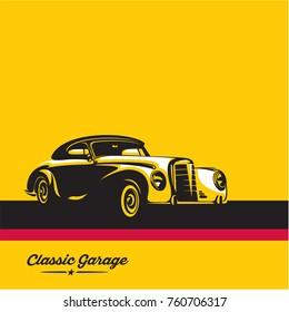 classic car, luxury vintage car vector