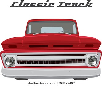 Classic Car on illustration graphic vector