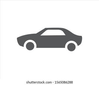 Classic car. Retro car icon. Mechanic on duty 24 hours Isolated simple front logo illustration. Sign symbol. Auto style logo design with concept sports vehicle icon silhouette